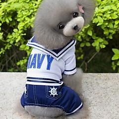 Χαμηλού Κόστους Ρούχα και αξεσουάρ για σκύλους-Σκύλος Στολές Φόρμες Ρούχα για σκύλους Στολές Ηρώων Μοντέρνα Ναυτικό Σκούρο μπλε Στολές Για κατοικίδια