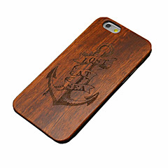 Недорогие Кейсы для iPhone-Для Кейс для iPhone 6 Кейс для iPhone 6 Plus Чехлы панели Рельефный Задняя крышка Кейс для Имитация дерева Твердый Дерево дляiPhone 7