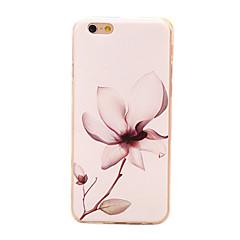 Недорогие Кейсы для iPhone 4s / 4-Назначение Кейс для iPhone 6 Кейс для iPhone 6 Plus Чехлы панели С узором Задняя крышка Кейс для Цветы Мягкий Термопластик дляiPhone 6s