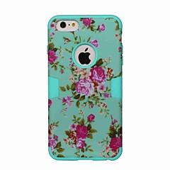Недорогие Кейсы для iPhone 6 Plus-Кейс для Назначение Apple iPhone 6 iPhone 6 Plus Защита от удара С узором Чехол Цветы Твердый ТПУ для iPhone 6s Plus iPhone 6s iPhone 6