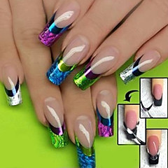 3D Mixed Colour Patterns French Manicure Tip Guides Nail Stickers
