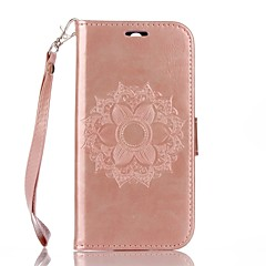 Full Body Mandala Embossed Leather Wallet for HTC M8 Cases / Covers for HTC