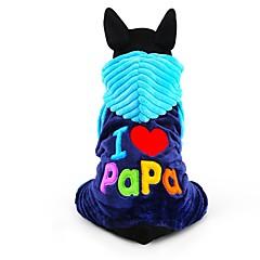 お買い得  犬用ウェア&アクセサリー-犬 ジャンプスーツ 犬用ウェア 文字&番号 ローズ ブルー コーデュロイ コスチューム ペット用 男性用 女性用 キュート 保温 ファッション