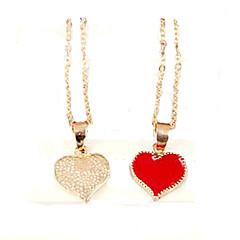 Недорогие Женские украшения-Жен. Ожерелья с подвесками - Сердце, Любовь Мода Белый, Черный, Красный Ожерелье Бижутерия Назначение Для вечеринок