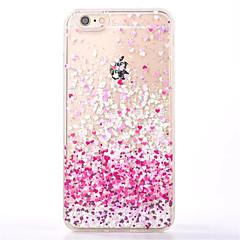 Kompatibilitás iPhone 8 iPhone 8 Plus iPhone 7 iPhone 7 Plus iPhone 6 tokok Folyékony Hátlap Case Szív Puha Hőre lágyuló poliuretán mert