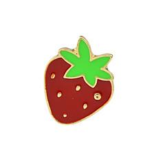 Nowy słodkie truskawki małe broszki biżuteria dla kobiet
