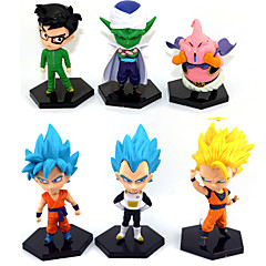 halpa -Anime Toimintahahmot Innoittamana Dragon Ball Goku Anime Cosplay-Tarvikkeet kuvio Keltainen PVC