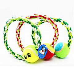 Evcil Hayvan Oyuncakları Çiğneme Oyuncağı İp Tenis Topu