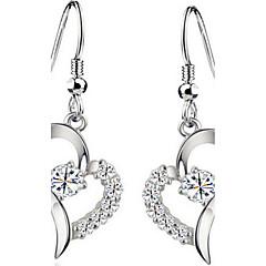 billige Øreringe-Dame Dråbeøreringe Kvadratisk Zirconium Kærlighed Mode luksus smykker Europæisk kostume smykker Sølv Zirkonium Kvadratisk Zirconium