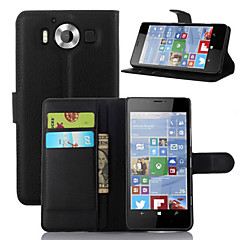 Mert Nokia tok Pénztárca / Kártyatartó / Állvánnyal Case Teljes védelem Case Egyszínű Kemény Műbőr NokiaNokia Lumia 950 / Nokia Lumia 930