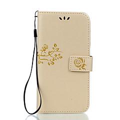 Недорогие Чехлы и кейсы для LG-Кейс для Назначение LG LG K10 LG K7 LG G5 LG G4 Бумажник для карт Кошелек со стендом Флип Рельефный Чехол Цветы Твердый Кожа PU для LG X