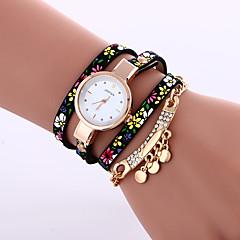 お買い得  大特価腕時計-女性用 クォーツ ブレスレットウォッチ カジュアルウォッチ レザー バンド Elegant ファッション ブラック ブルー グレー