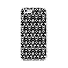billige iPhone-etuier-Etui Til Apple iPhone 6 iPhone 6 Plus Ultratyndt Mønster Bagcover Sort & Hvid Blødt TPU for iPhone 6s Plus iPhone 6s iPhone 6 Plus iPhone