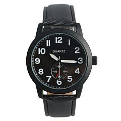 זול מבצעי שעונים-בגדי ריקוד גברים שעוני אופנה שעוני ספורט קווארץ / PU להקה יום יומי שחור