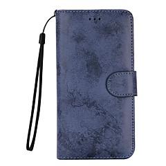 Недорогие Кейсы для iPhone 7 Plus-Кейс для Назначение Apple iPhone 7 Plus iPhone 7 Бумажник для карт Кошелек со стендом Флип Матовое Чехол Сплошной цвет Твердый Кожа PU для