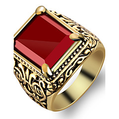 رخيصةأون -خاتم / راتينج سبيكة موضة أحمر مجوهرات حزب يوميا فضفاض الرياضة 1PC