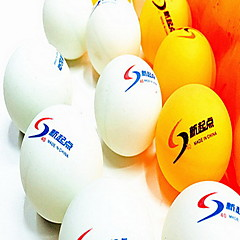144pcs 3 gwiazdek Ping Pang/Tenis stołowy Ball Plastik Noc nawiewu Wysoka wytrzymałość Wysoka elastyczność Trwały