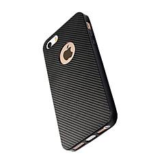 Til iPhone X iPhone 8 Etuier Stødsikker Bagcover Etui Helfarve Blødt Karbonfiber for Apple iPhone X iPhone 8 Plus iPhone 8 iPhone 7 Plus