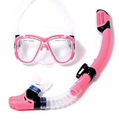 Máscaras de mergulho Pacotes de Mergulho Snorkels Máscara de Mergulho Kit para Snorkel Snorkel Seco Mergulho e Snorkeling Natação PVC