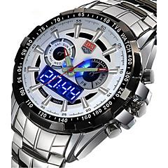 cheap Leather Band Watches-Men's Quartz Digital Wrist Watch Military Watch Sport Watch Calendar / date / day Alloy Band Charm Luxury Vintage Casual Dress Watch