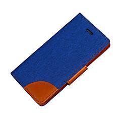 Недорогие Кейсы для iPhone-Кейс для Назначение Apple iPhone 7 Plus iPhone 7 Бумажник для карт Кошелек со стендом Флип Чехол Сплошной цвет Твердый Кожа PU для iPhone