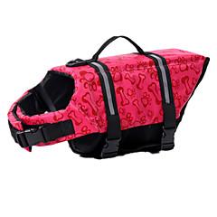 お買い得  犬用ウェア&アクセサリー-犬 ライフジャケット 犬用ウェア 防水 スポーツ 純色 イエロー レッド ブルー ピンク 迷彩色