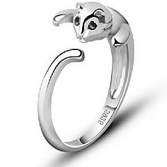 preiswerte Ringe-Damen Ring - Sterling Silber, Aleación Katze, Tier Ohne Verschluss Verstellbar Silber Für Alltag Normal