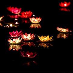 お買い得  LED アイデアライト-誕生日のキャンドルランプ水提灯の結婚式の装飾のramdon色をフローティングランプ奉納ろうそくを希望バレンタインデーの贈り物の蓮