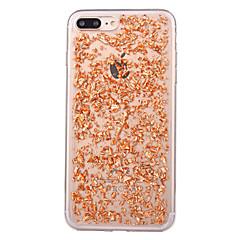 Недорогие Кейсы для iPhone X-Кейс для Назначение Apple iPhone X / iPhone 8 Защита от пыли Кейс на заднюю панель Сияние и блеск Мягкий ТПУ для iPhone X / iPhone 8 Pluss / iPhone 8