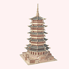Jigsaw Puzzles Wooden Puzzles Building Blocks DIY Toys  Buddha Tower 1 Wood Ivory Model & Building Toy