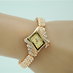 cheap Women's Watches-Women's Quartz Bracelet Watch Imitation Diamond Alloy Band Charm Dress Watch Elegant Fashion Gold
