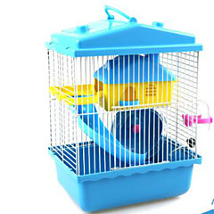 Hamster Plastic Cages Coffee Blue Pink