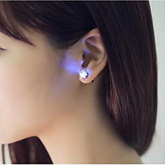 2PCS Unique Design LED Earrings Light Light Up Bling Ear Studs Accessories for Dance Party Bar