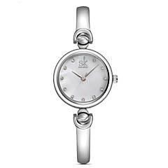 cheap Watch Deals-SK Women's Quartz Wrist Watch / Casual Watch Alloy Band Casual Dress Watch Elegant Fashion Silver Gold