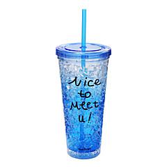 الخارج ليذهب أدوات الشرب, 650 كأس فراغ كأس ماء × 2