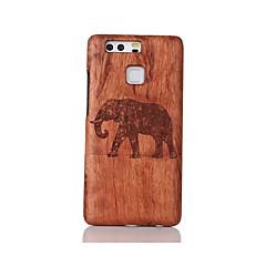 For Stødsikker Præget Mønster Etui Bagcover Etui Dyr Hårdt Træ for Huawei Huawei P9 Huawei P9 Lite