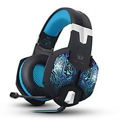 billige Høretelefoner (hovedbøjle)-KOTION EACH G1000 Over øre Pandebånd Ledning Hovedtelefoner Piezoelektricitet Plast Mobiltelefon øretelefon Med volumenkontrol Med