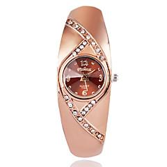 お買い得  大特価腕時計-女性用 ファッションウォッチ リストウォッチ クォーツ ブラウン / ローズゴールド 模造ダイヤモンド / ハンズ レディース カジュアル エレガント - ローズゴールド