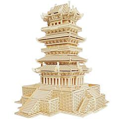 ieftine -Puzzle Lemn Clădire celebru Arhitectura Chineză Casă nivel profesional Lemn 1pcs Pentru copii Fete Băieți Cadou
