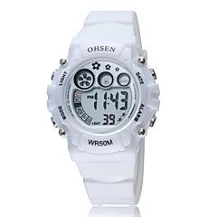 זול מבצעי שעונים-בגדי ריקוד גברים שעוני ספורט שעוני אופנה שעון יד קווארץ סיליקוןריצה להקה וינטאג' יום יומי צבעוני
