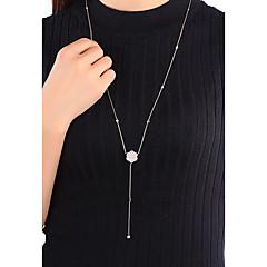 Ожерелья-цепочки Бижутерия Одинарная цепочка Крестообразной формы Стерлинговое серебро Базовый дизайн Уникальный дизайн Мода Бижутерия
