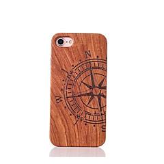 Для Защита от удара Рельефный С узором Кейс для Задняя крышка Кейс для Слова / выражения Твердый Дерево для AppleiPhone 7 Plus iPhone 7