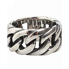 رخيصةأون -للرجال خاتم والمجوهرات الصلب التيتانيوم مجوهرات من أجل حزب يوميا فضفاض