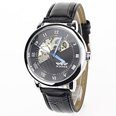 Męskie Sportowy Do sukni/garnituru Modny Zegarek na nadgarstek zegarek mechaniczny Mechaniczny, nakręcanie ręczne Skóra naturalna Pasmo Z