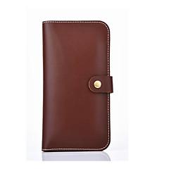 Для Кошелек Бумажник для карт Кейс для Чехол Кейс для Один цвет Твердый Искусственная кожа для Universal Other