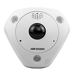 abordables Cámaras IP-hikvision® ds-2cd6362f-es 6mp ojo de pez cámara IP bulit-in micrófono y altavoz virtual ptz 15m ir rango 360 panorámico) h.264 poe