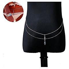 abordables -Borla Cinturones metálicos / Para Cuerpo Personalizado, Diseño Único, Borla Mujer Plata Joyería Corporal Para Regalos de Navidad / Diario / Casual