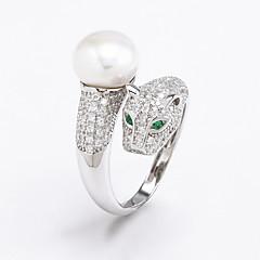 お買い得  指輪-女性 指輪 人造真珠 キュービックジルコニア 人造真珠 ジルコン ジュエリー 用途 日常 カジュアル