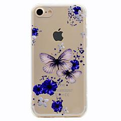 Недорогие Кейсы для iPhone 7-Кейс для Назначение iPhone 7 Plus IPhone 7 Apple С узором Кейс на заднюю панель Бабочка Мягкий ТПУ для iPhone 7 Plus iPhone 7