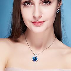 Ожерелья с подвесками Кристалл В форме сердца Хрусталь Базовый дизайн В виде подвески Бижутерия Назначение Повседневные